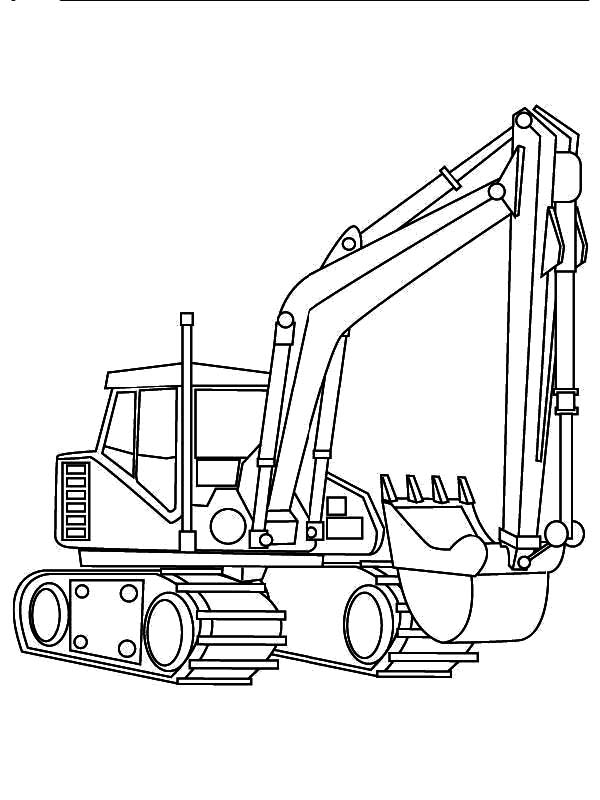 Excavator Digger Coloring Pages Download Print Online Coloring Pages For Free Col Free Kids Coloring Pages Tractor Coloring Pages Coloring Pages For Boys