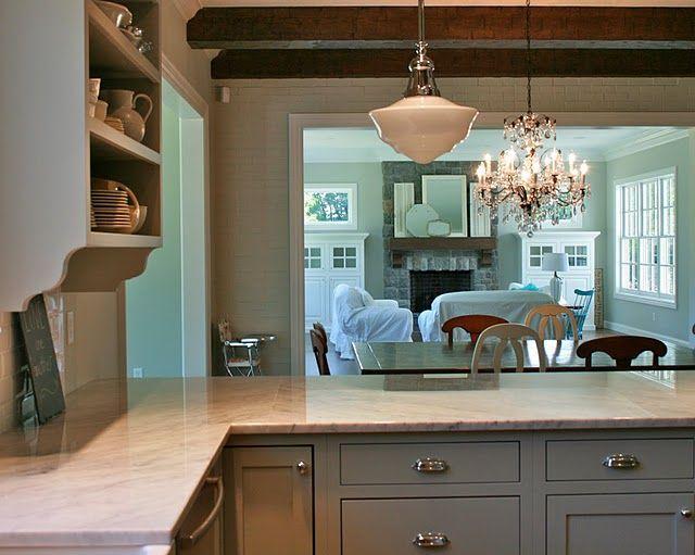 Captivating Love The Gray Kitchen Cabinets ~ Benjamin Moore Fieldstone Nice Look