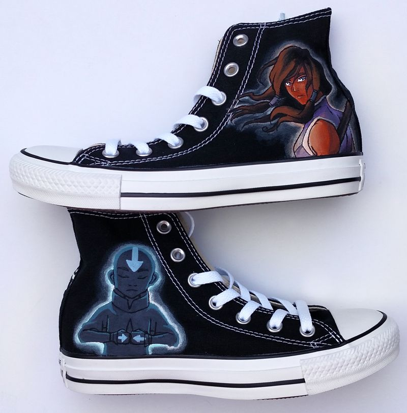 60bd89f62b53 Pin by WaffleInk Painted Accessories on My Painted Shoes. Hand ...