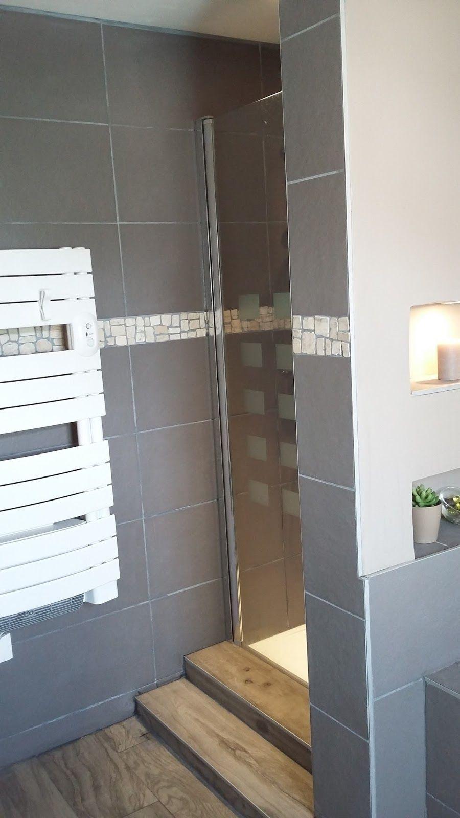 salle de bain zen nature moderne design taupe galet niche ...