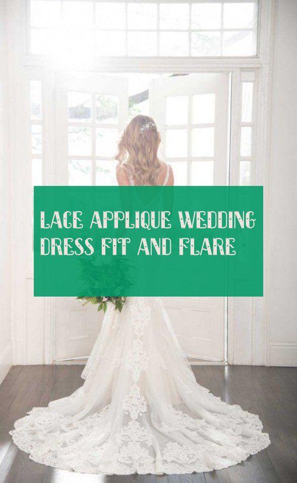 spitze applique hochzeitskleid fit und flare , #lace #applique #wedding #dress #flare #spitzeapplique