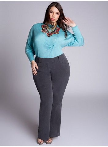1c36bb63e56dc Trina Pants in Charcoal - IGIGI Big curvy plus size women are beautiful!  fashion curves real women accept your body body consciousness