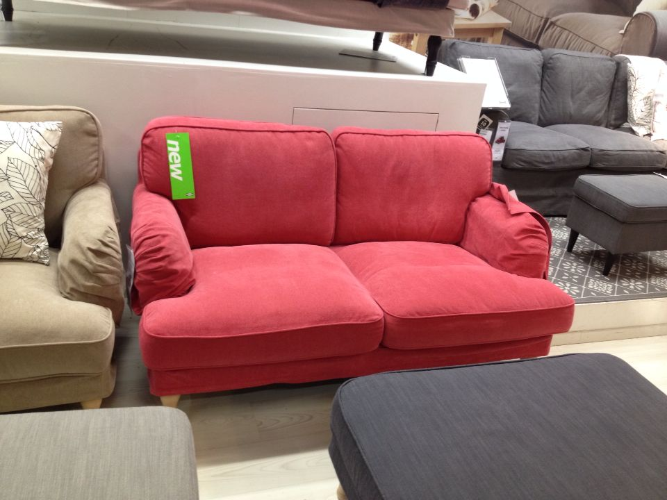 Ikea sofa stocksund light red | Master/Guest bedroom | Pinterest ...