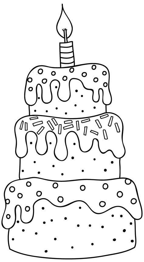 pinsilvia köllner on ausmalbilder  birthday coloring