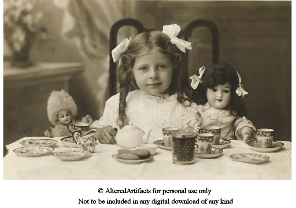 Let S Have Tea Looks Like An Invitation To Me Be Sure To Click On The Picture Above To Ta Vintage Tea Parties Vintage Children Photos Vintage Photos