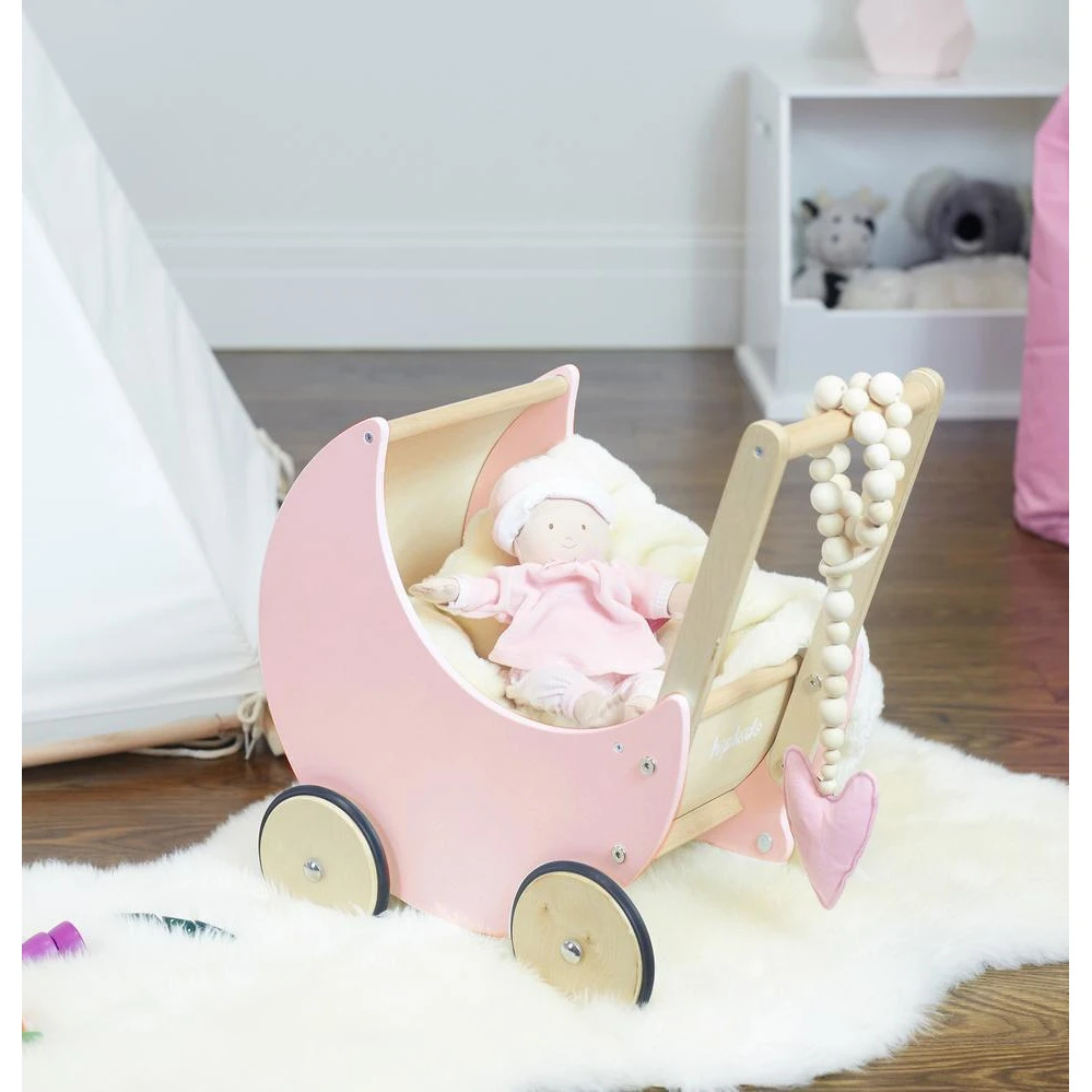 Wooden Moon Doll Pram in 2020 (With images) Dolls prams