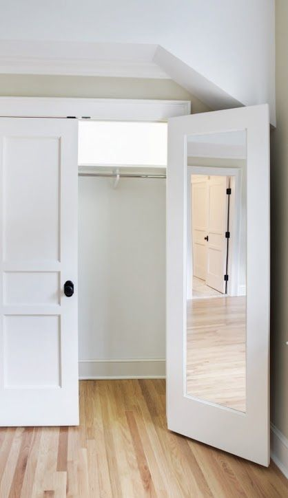 Mirrored Pocket Door Mirror Built In To Back Of Door | Doors In 2019 | Bedroom