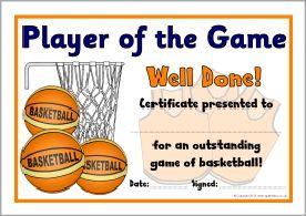 Basketball club award certificates sb9550 sparklebox basketball club award certificates sb9550 sparklebox yelopaper Images