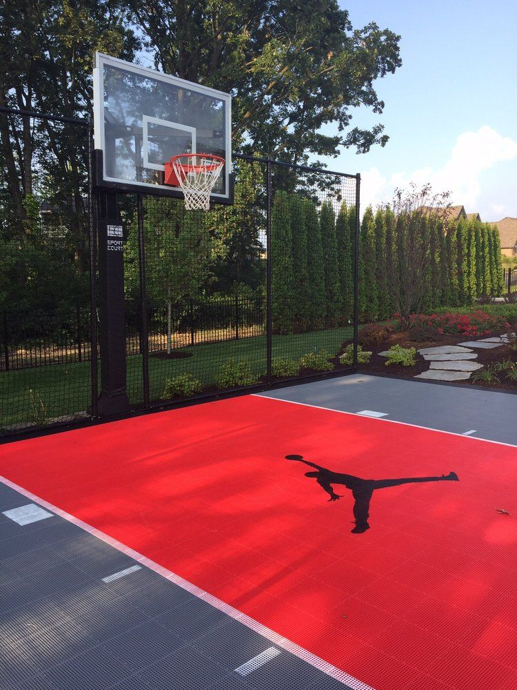 Jumpman Court By Sport Court Midwest Home Basketball Court Basketball Court Backyard Backyard Basketball