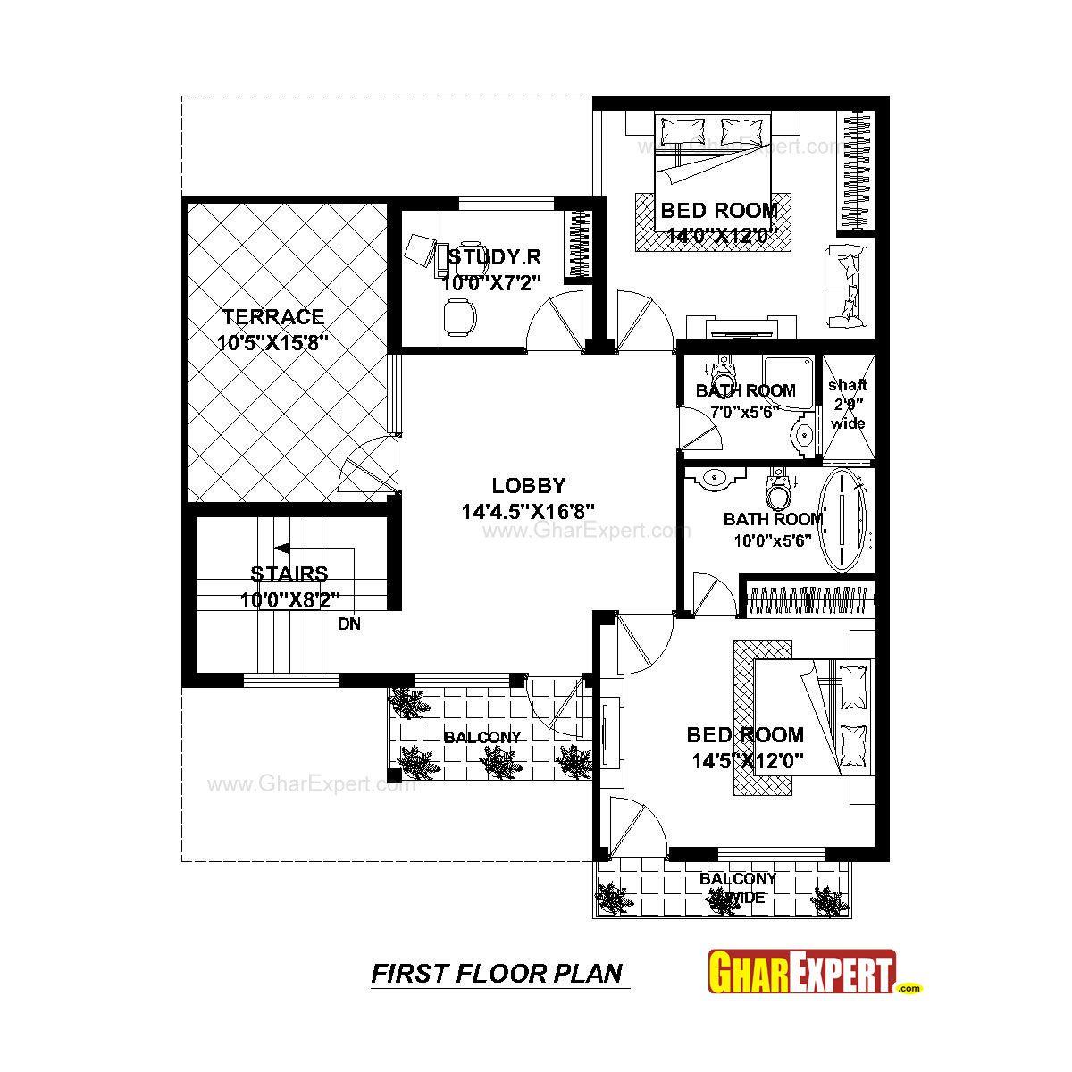 House Plan For 37 Feet By 45 Feet Plot Plot Size 185