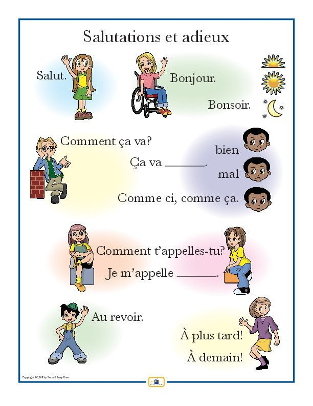 French Set of 4 Posters with Everyday Phrases | Useful French ...