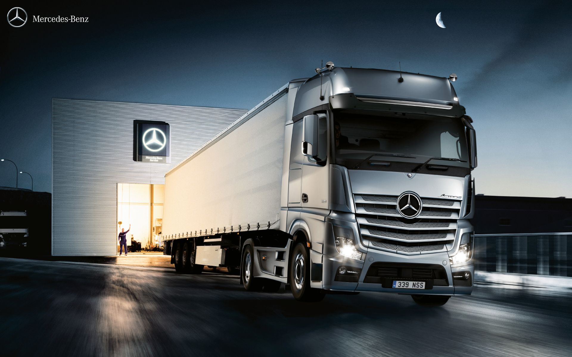 The new actros leaving the warehouse actros mercedes actrostrucks trucking