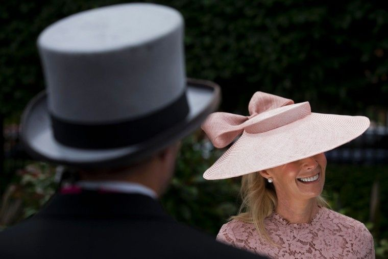 Racegoers arrive on the first day on the first day of the Royal Ascot horse racing meet, in Ascot, west of London, on June 14, 2016. (JUSTIN TALLIS/AFP/Getty Images)