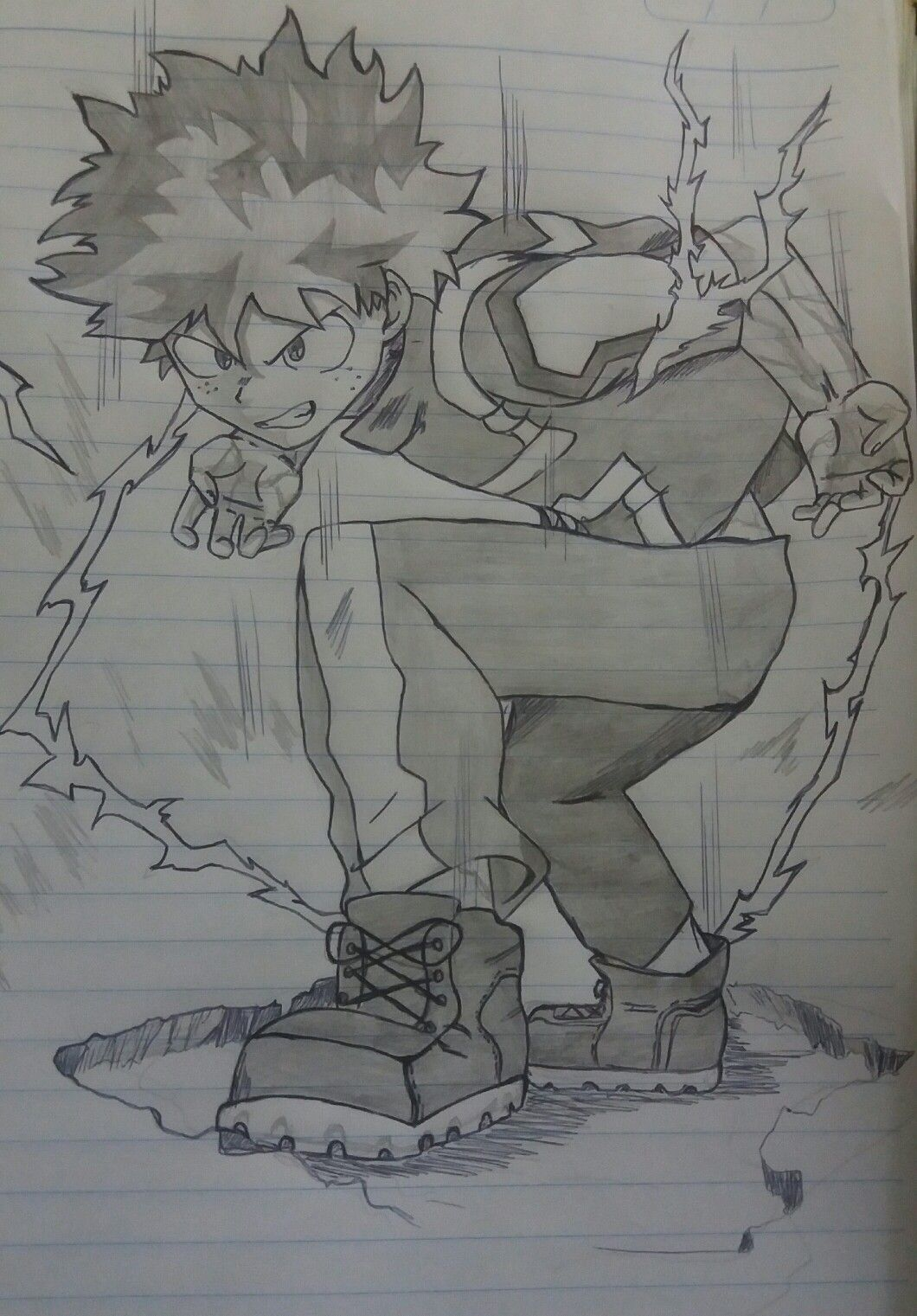 Midoriya My Hero Academia Badass Drawings Anime Character Drawing Anime Drawings