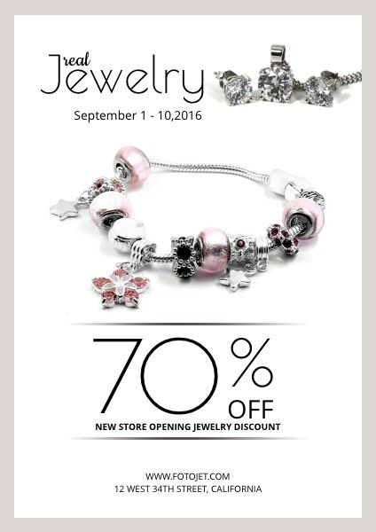 Jewelry Store Discount Poster Template FotoJet (With