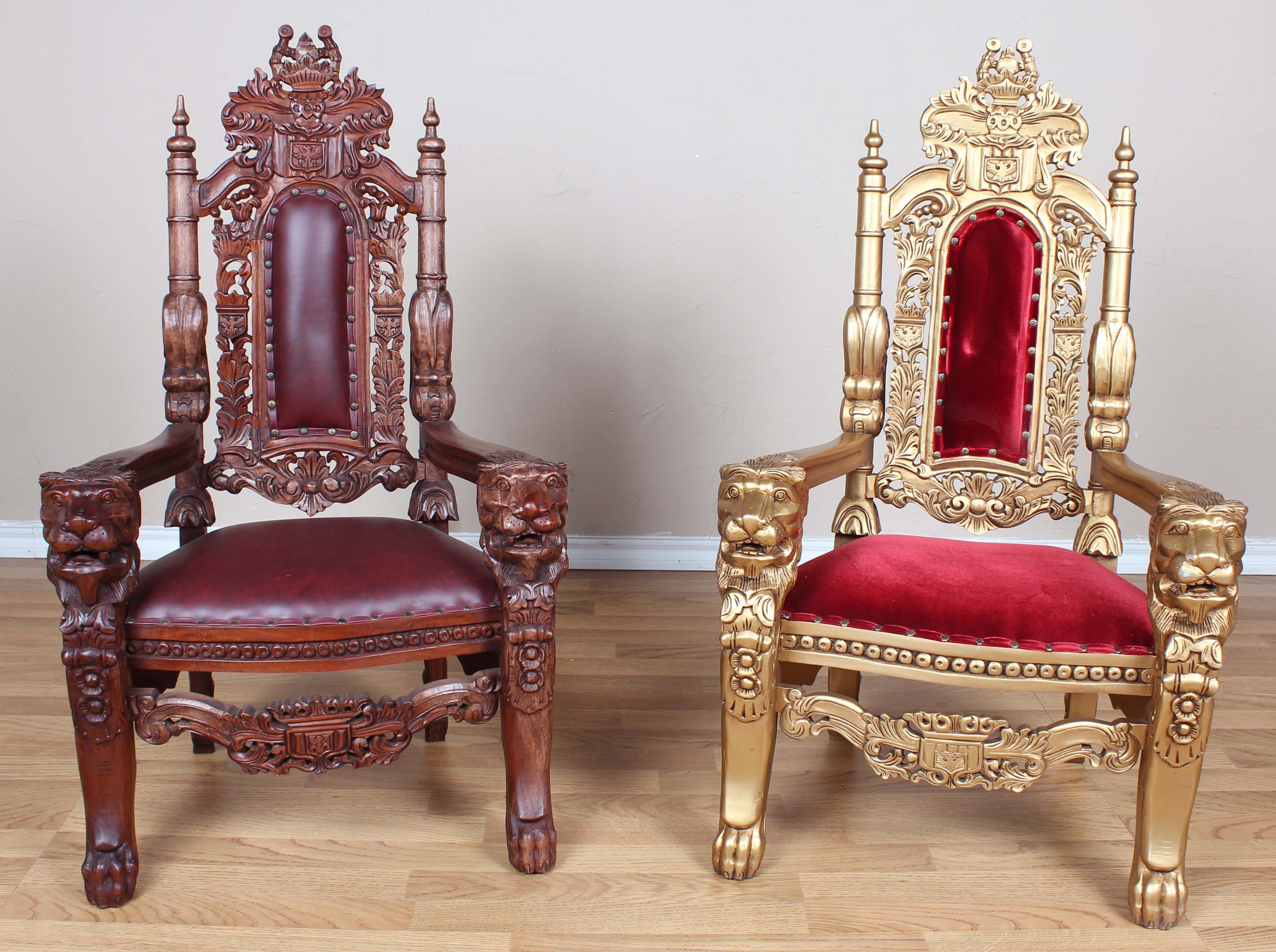 3 MINI Throne Chairs for children or dolls