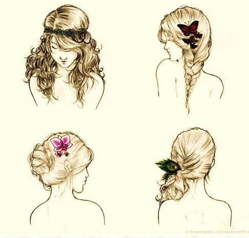 Hairstyle Drawings Google Search Hair Styles Long Hair Styles Hair Makeup
