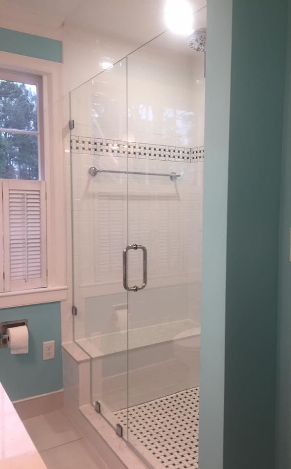 Custom Shower Enclosure Featuring 3 8 Starphire Ultra Clear