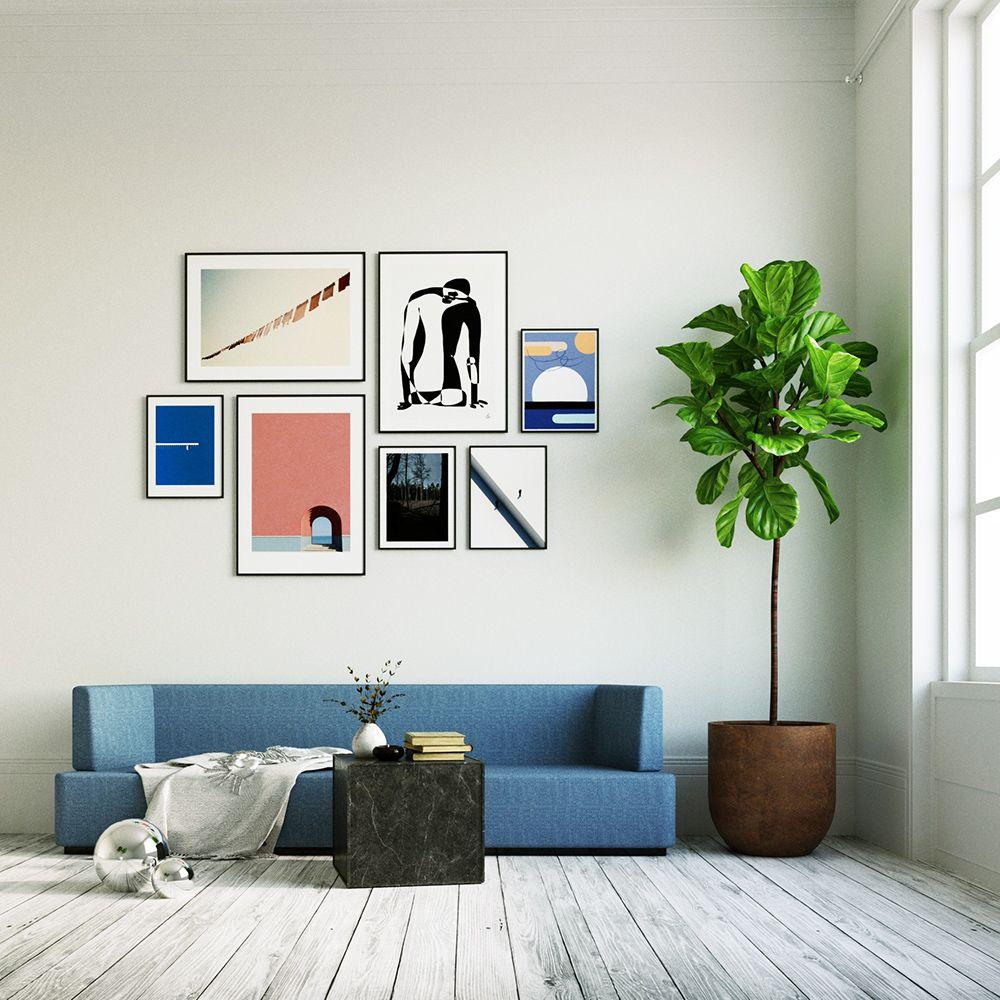 A Bit Blue - Köp din poster från Artish