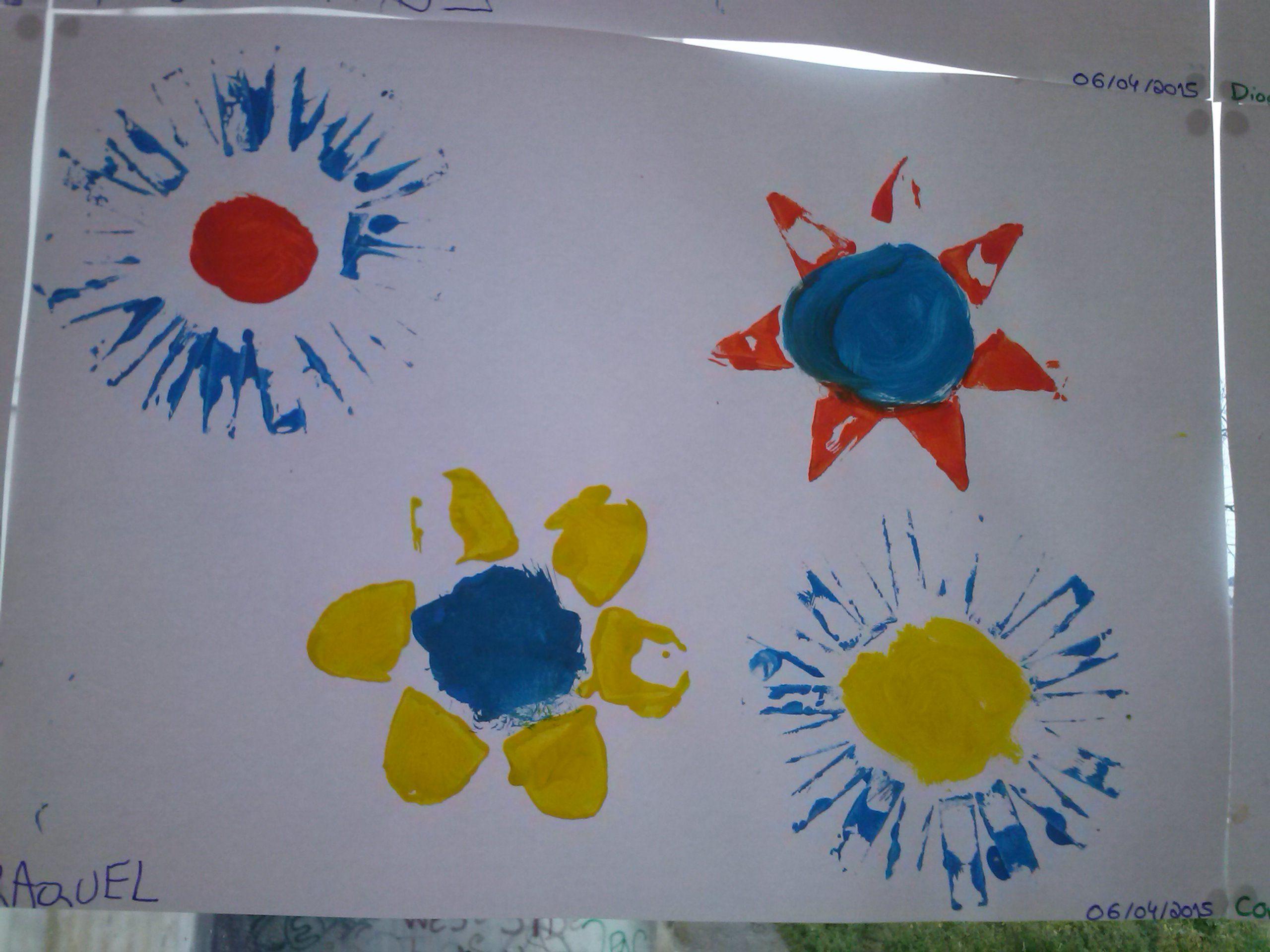 Pintura com rolos de papel