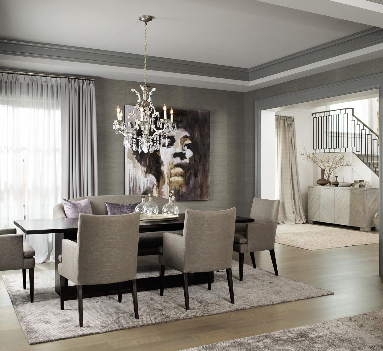 Transitional Dining Room Leo Designs Chicago