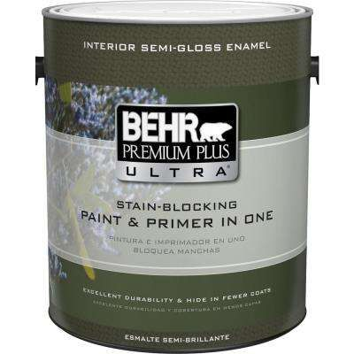 1 Gal Ultra Pure White Semi Gloss Enamel Interior Paint And
