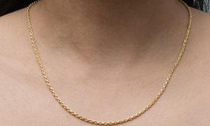 10k Solid Gold Rope Chain Necklace Gold Rope Chains Necklace Solid Gold Chains