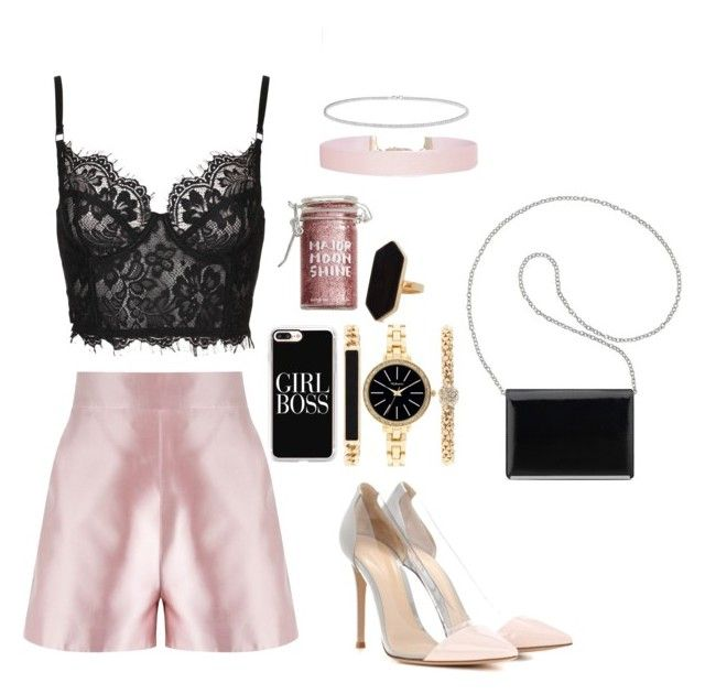 """""""Untitled #333"""" by tiana25 ❤ liked on Polyvore featuring Martha Medeiros, Major Moonshine, Humble Chic, Anne Sisteron, Nine West, Gianvito Rossi, Casetify, Jaeger and Style & Co."""