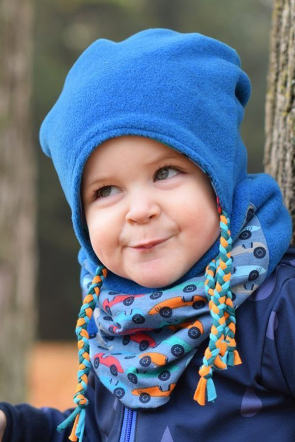 Gratis Schnittmuster mit Nähanleitung (Freebook): Wintermütze für Kinder #strickanleitungbaby