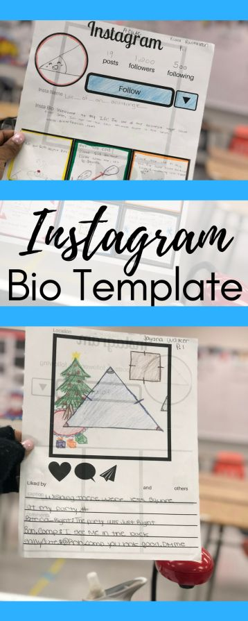 How to use an Instagram Bio Template in Math Pinterest Instagram