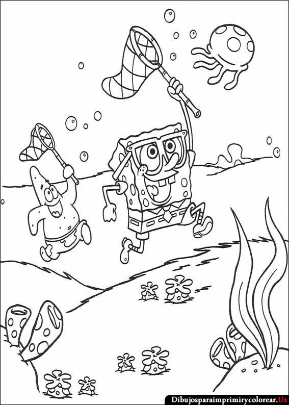 Dibujos de Bob Esponja para Imprimir y Colorear | Anjana 2 | Pinterest
