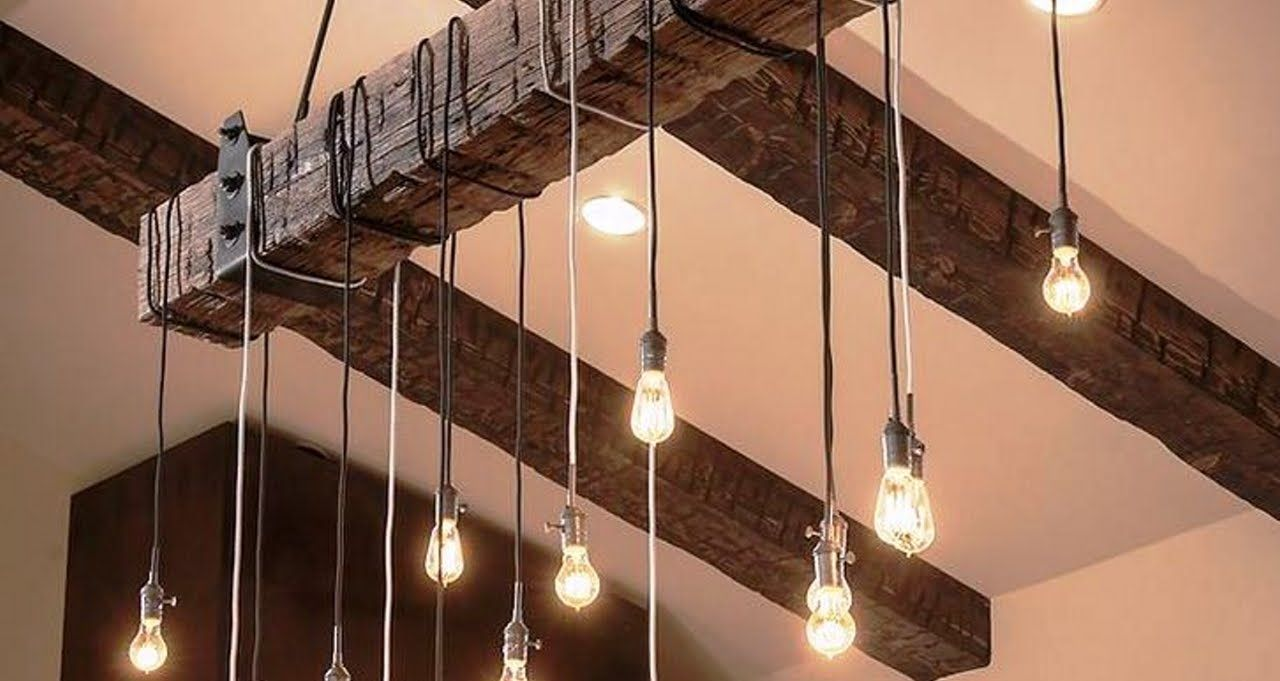 Diy lmpa vintage design lmpa diy tletek pinterest diy light if you have a spare railroad tie and antique lights combine them to make an amazing chandelier find this pin and more on diy solutioingenieria Image collections
