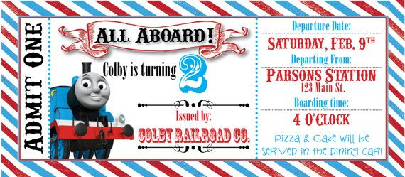 Thomas The Train Ticket Party Invitation By RAWkonversations - Party invitation template: train party invitations templates