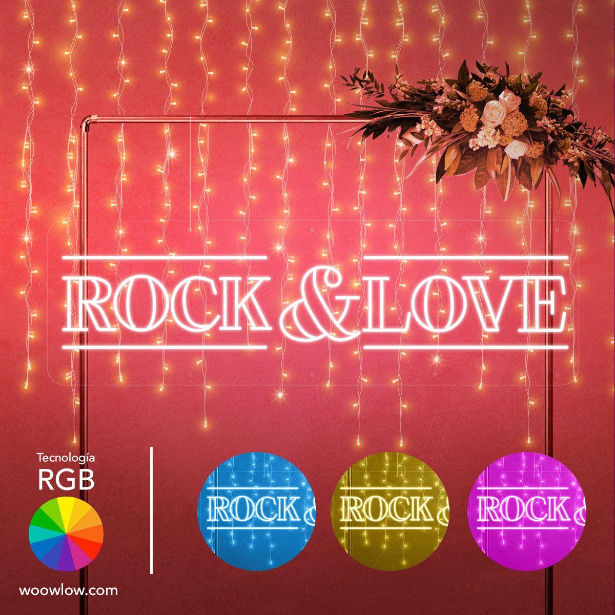 Alquilar Tu Casa Para Porno 185€ alquiler de neón para bodas con la frase 'rock & love