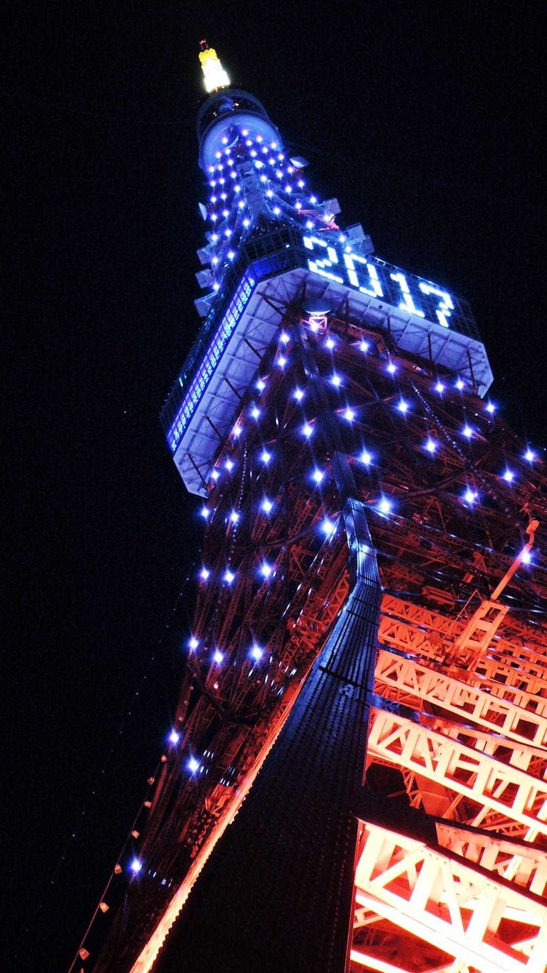 2017-01-01 Tokyo Tower  ダイヤモンドヴェール照明(^_^)/  #tokyotower #tokyo #夜景 #東京タワー