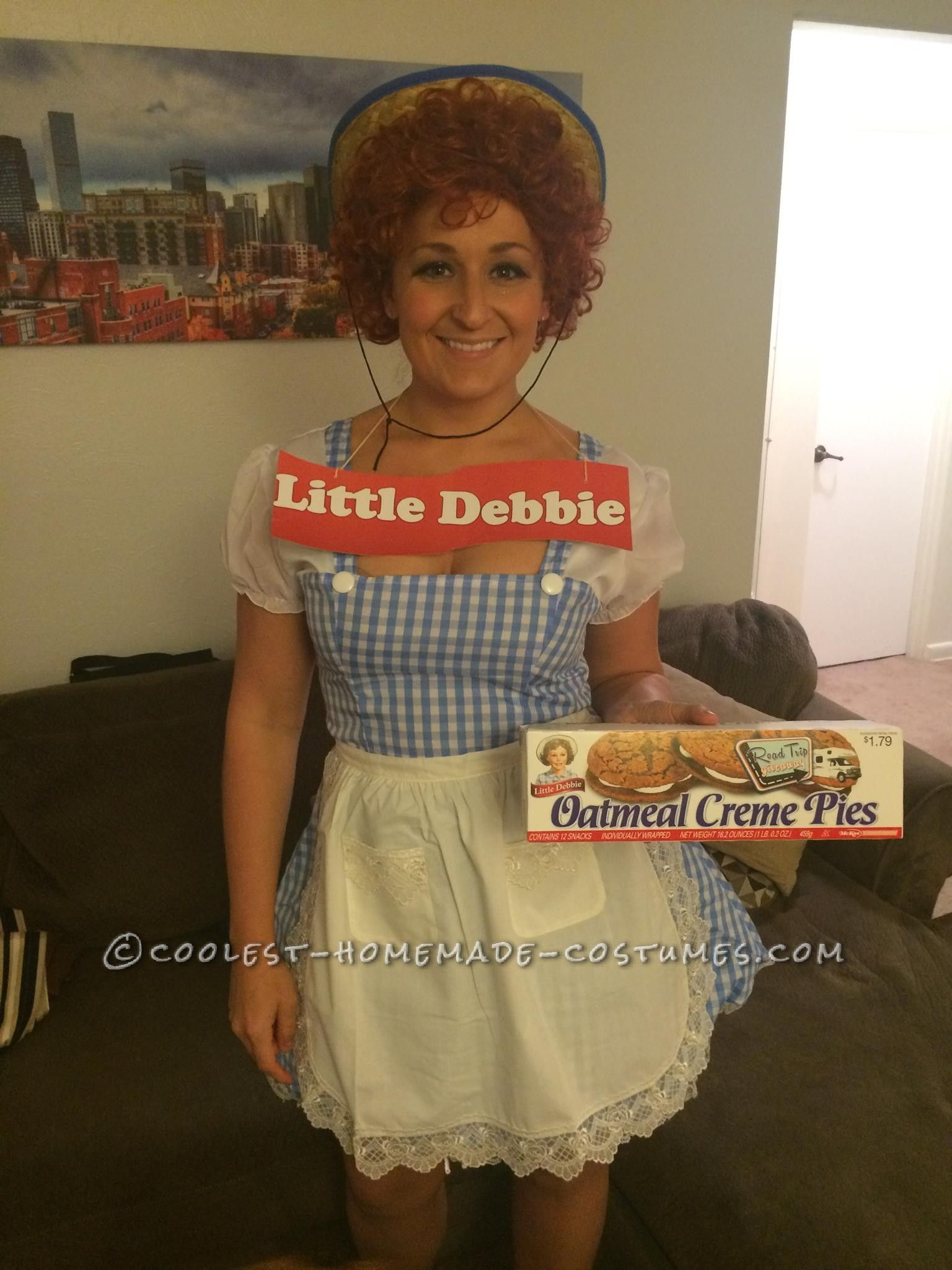 homemade little debbie costume snack cakes for all original halloween costumesfunny - Clever Original Halloween Costumes