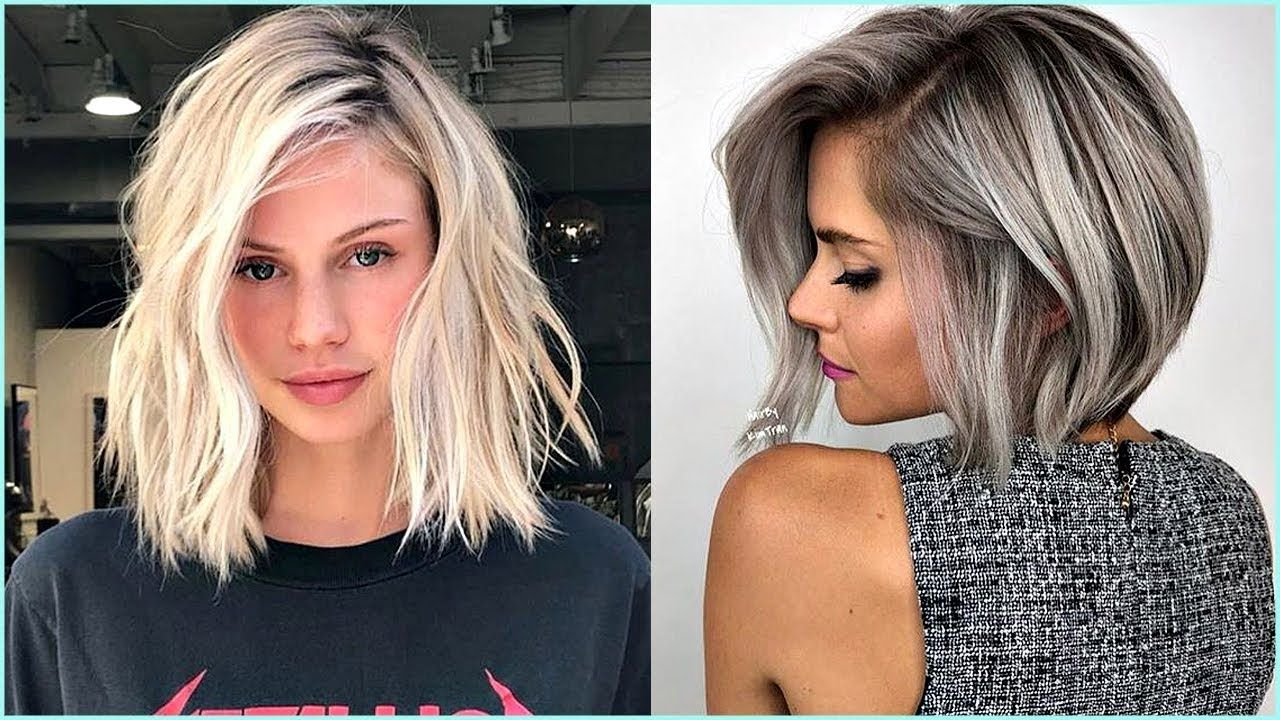 10 Beautiful Medium Bob Haircuts & Edgy Looks - YouTube  Medium