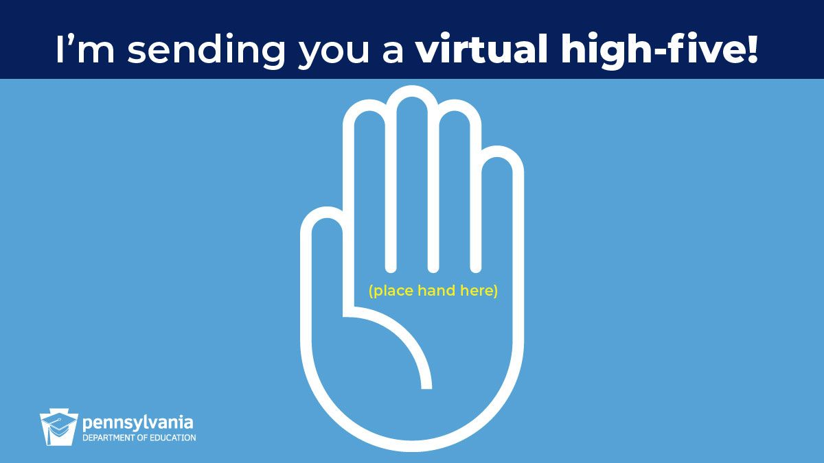 Send Someone A Virtual High Five Education Correctional Institution Charter School