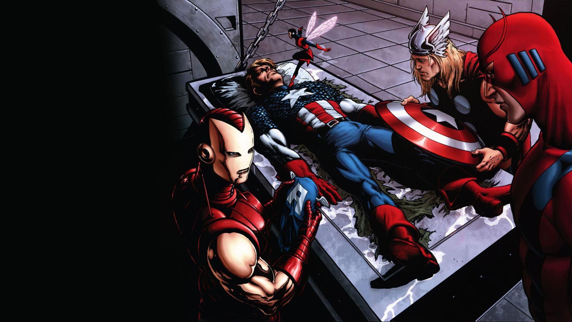 Iron Man Thor Captain America Marvel Comics The Avengers