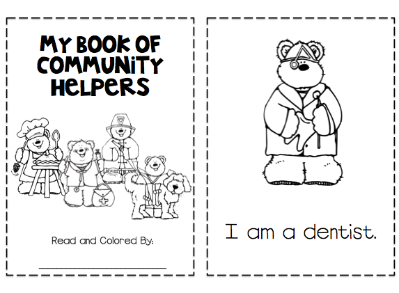 Printable Community Helper Activity Community Helpers Pinterest - Community-coloring-pages