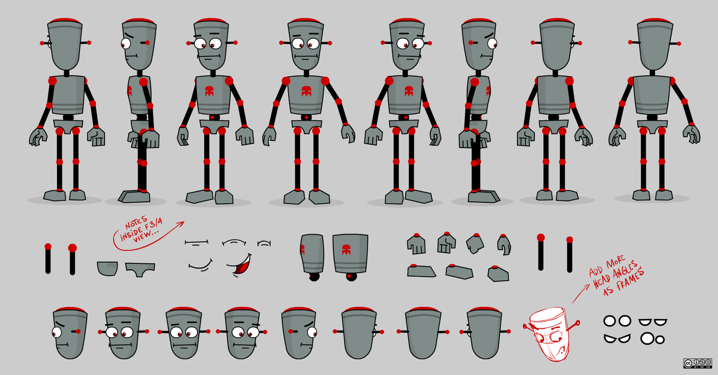 2d Character Design Software Free Download : Flash animation characters download robot smart magnet