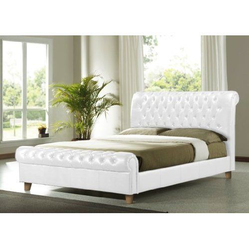 Richmond White 4FT6 Double Faux Leather Bed Frame by Richmond White ...