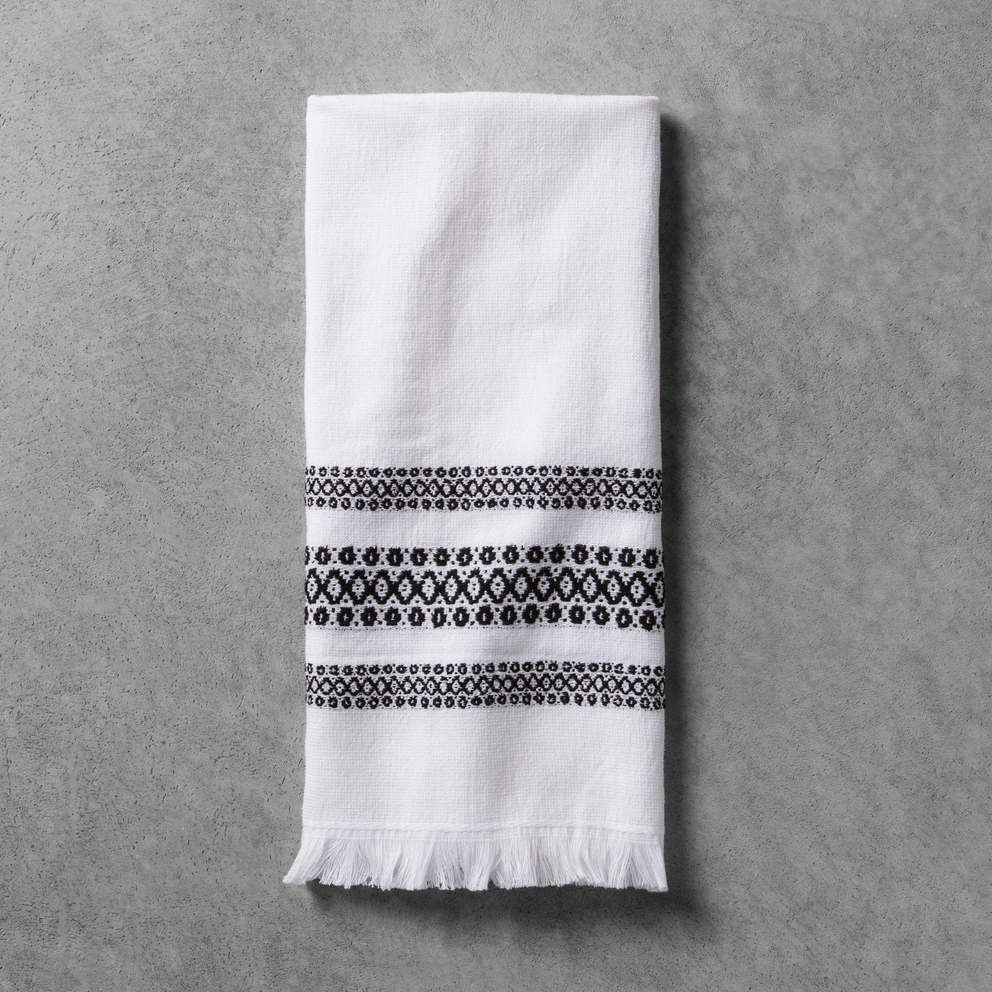 bath towel black white hearth hand with magnolia esta casa rh in pinterest com