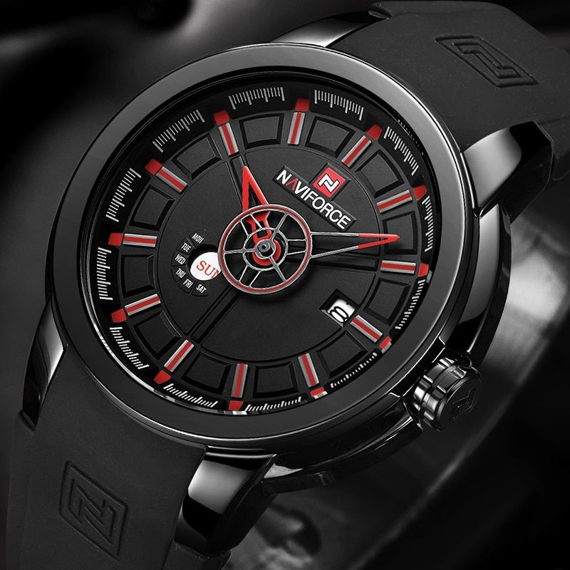 Mens Watches Top Luxury Brand Naviforce Sports Watch Men Military Rubber Quartz Watch Waterproof Best Affordable Watches Mens Sport Watches Affordable Watches
