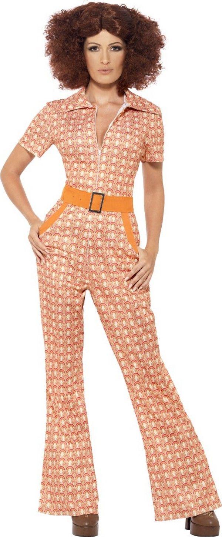 Vestito anni  70 da donna  Questo travestimento di Carnevale è da donna  anni  70.Composto di un abito intero (parrucca e scarpe escluse). 12355f3c670