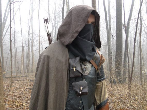 Linen Hooded Cloaks Renaissance Medieval Cape Ranger For Costume Cosplay - Choose Your Color : renaissance archer costume  - Germanpascual.Com