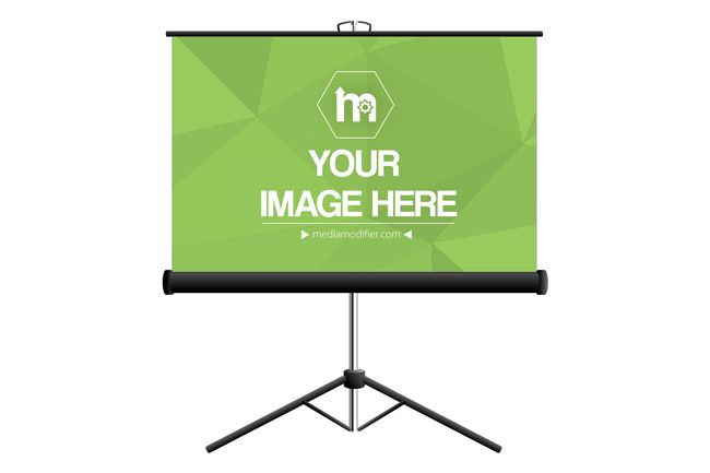 Projector Stand Screen Mockup Mediamodifier Online Mockup Generator Projector Stand Mockup Projector