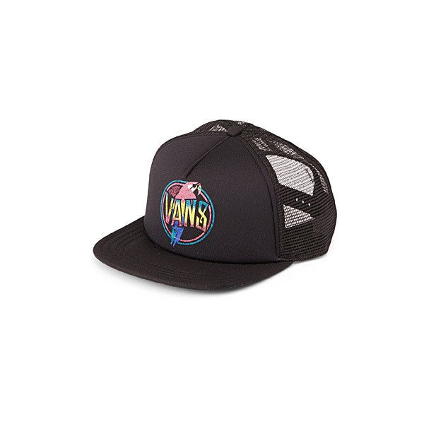 d349486bc7c Vans Parrot trucker cap ( 7.81) ❤ liked on Polyvore featuring accessories