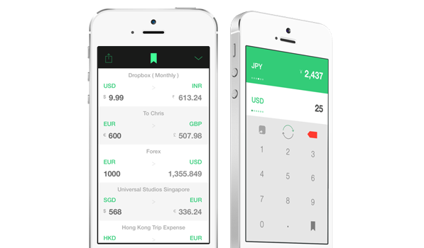 Stacks — Currency Converter for iPhone App design