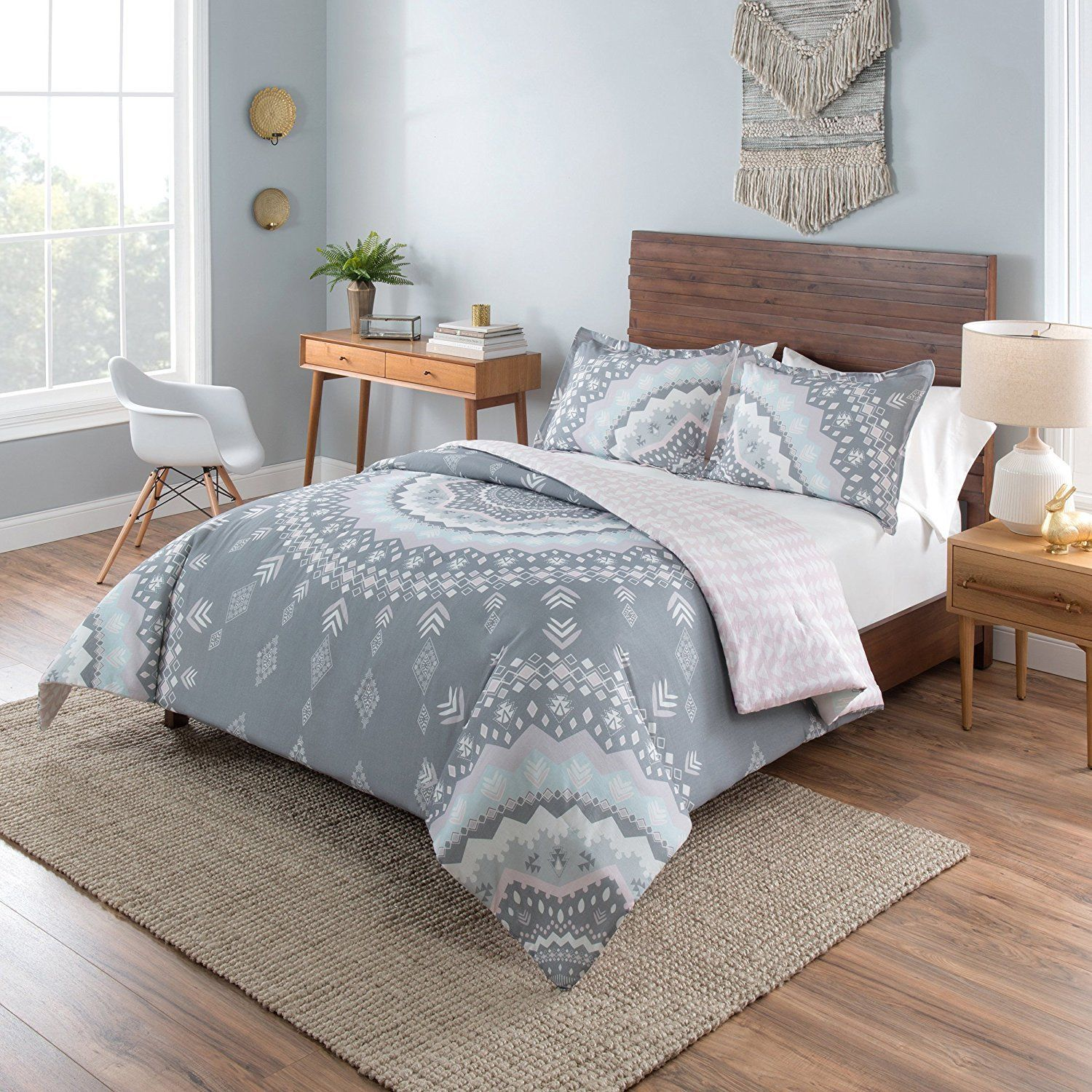 girls light pink white grey bohemian mandala comforter twin xl products pinterest twin xl. Black Bedroom Furniture Sets. Home Design Ideas